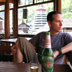 Tony Relaxes in Zhaoxing, China