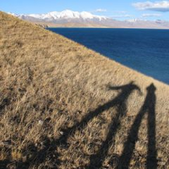 Evening Stroll Along Lake Manasarovar in Tibet
