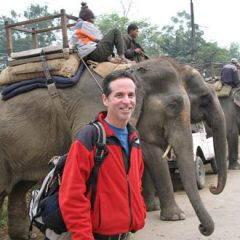 Tony Prepares for Elephant Safari at Chitwan in Nepal