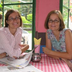 Claudia and Katja in Rishikesh