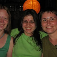Kat, Amit and Anicca in Rishikesh