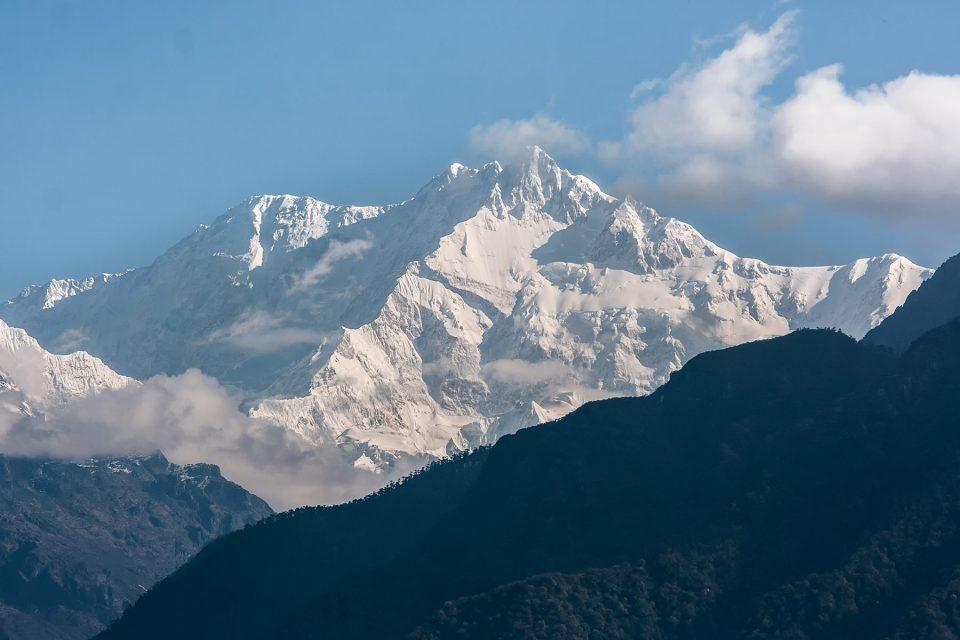 View of Kangchenjunga in Sikkim