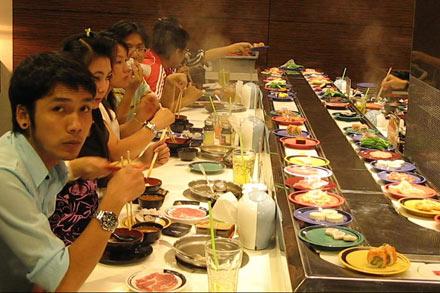 Conveyor Belt at Sushi Bar