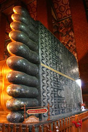 Wat Pho Reclining Buddha Ornate Feet