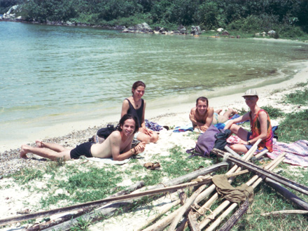 Tony, Evelyn, Thomas and Chris on Ssese Islands