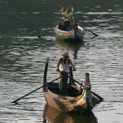 Taungthaman Lake Boats