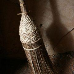 Temple Broom in Bagan