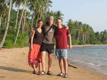 Michaela, Stephan and Tony on Rabbit Island