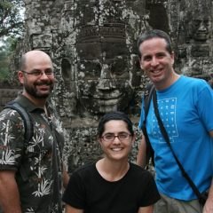 Garrett, Lisa and Tony in Bayon