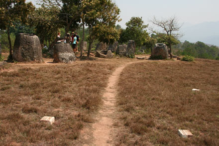 Safety Markers at Plain of Jars