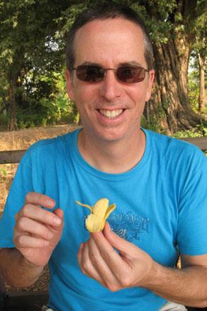 Tony Enjoys Mini Banana