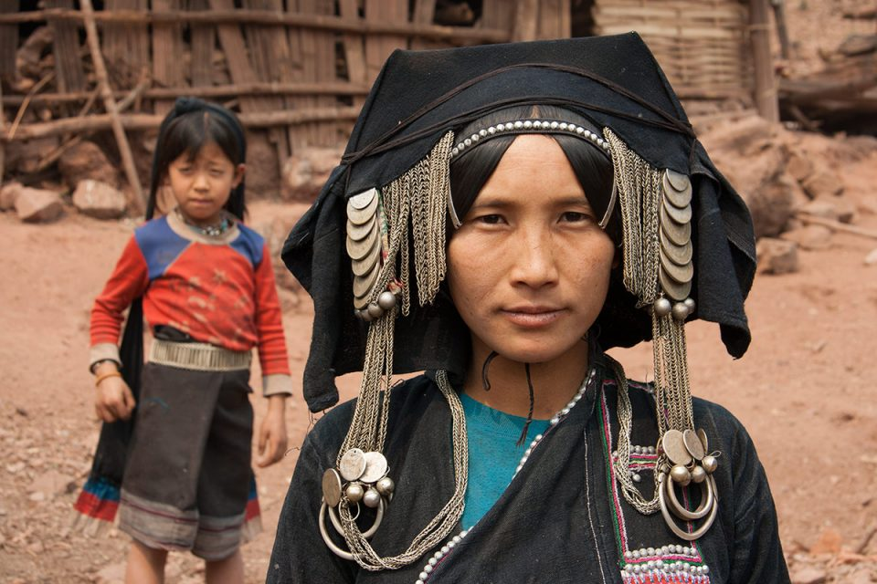 Akha woman in northern Laos