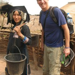 Tony with an Akha woman