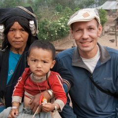 Thomas with an Akha woman