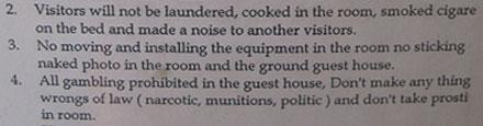 Strange Hotel Regulations
