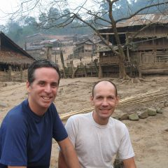 Tony and Thomas in an Akha village