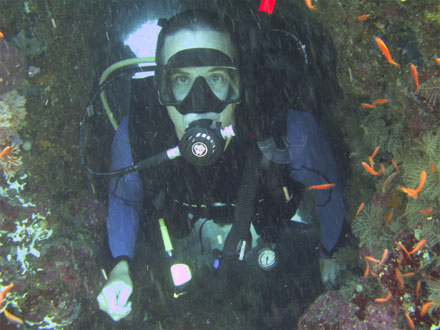 Tony at Hole in the Wall near Sabang, Mindoro