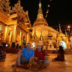 TnT at the Shwe Dagon Pagoda