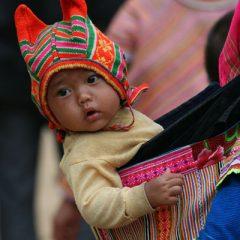 Flower Hmong Child, Can Cau Market