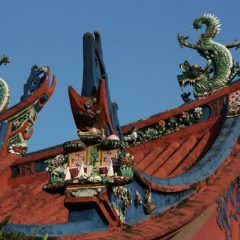 Ornate Temple Roof in Penang
