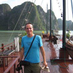 Tony in Halong Bay
