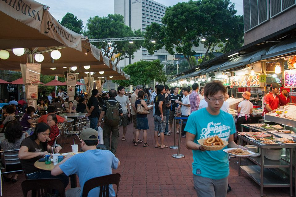 Singapore Food Hawker Stalls