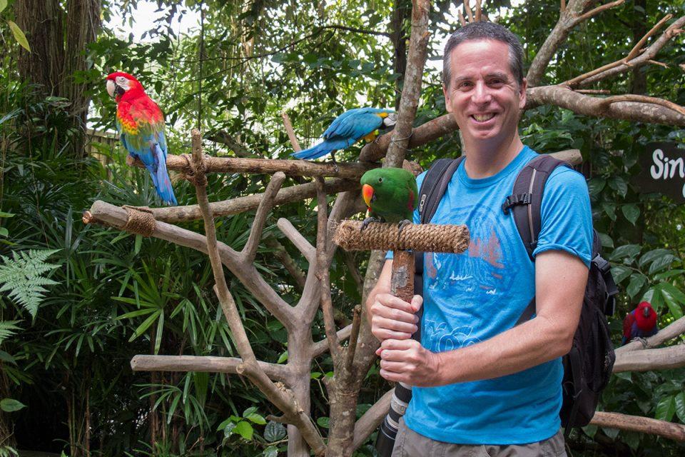 Tony at the Singapore Zoo
