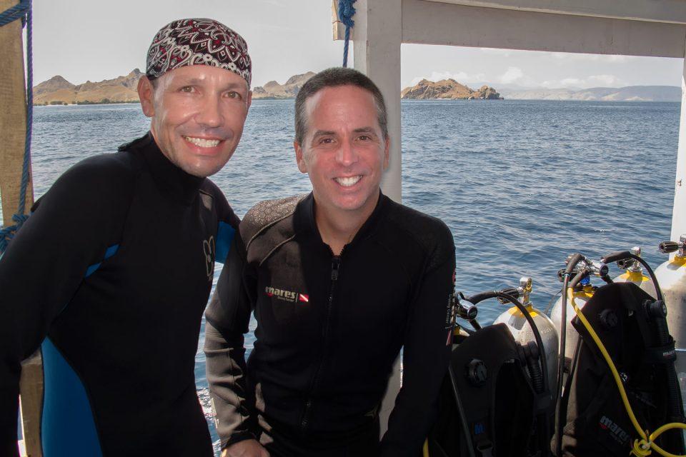 TnT diving off the coast of Komodo
