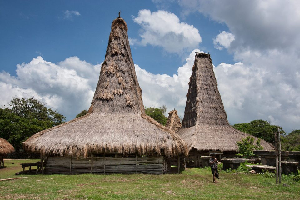 Ratenggaro huts in Kodi, Sumba
