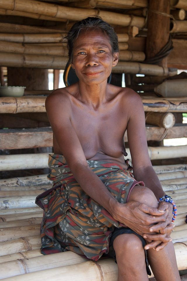 Woman in Ratenggaro in Kodi, Sumba