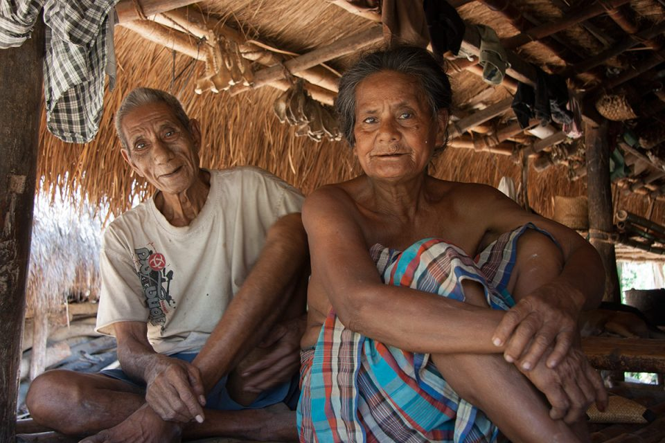 Old couple in Praigoli, Sumba