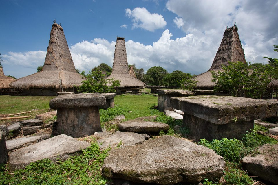 Tombs in Wainyapu in Kodi, Sumba