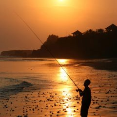 Fisherman at Balian Beach