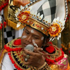 Balinese Man Applying Festival Makeup