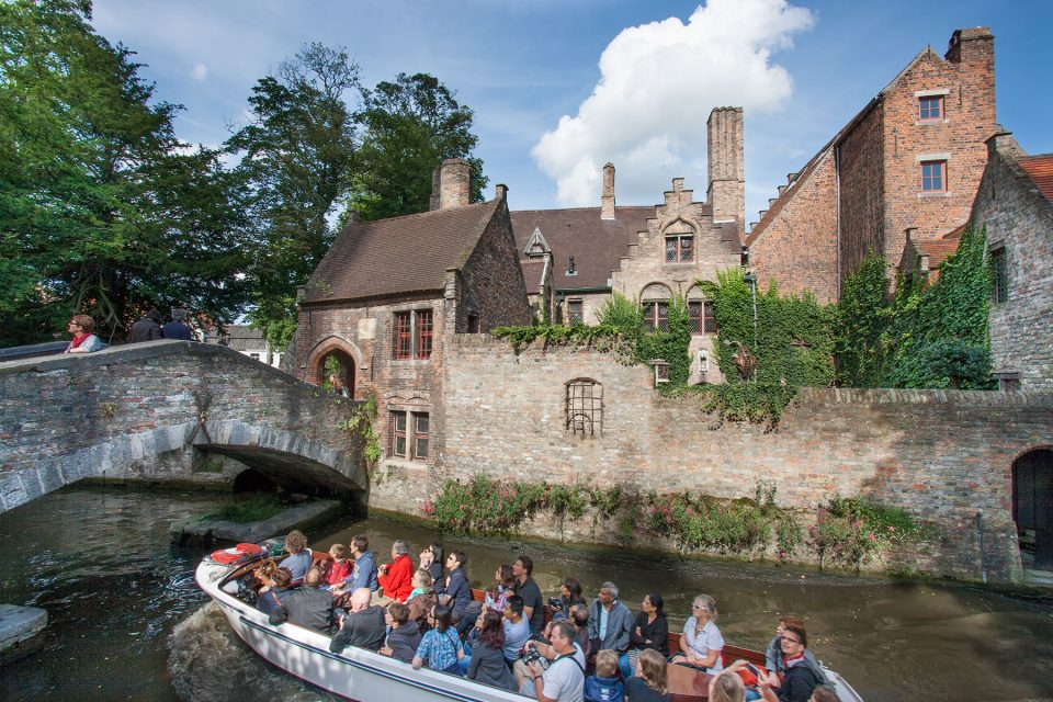 Boat trip through canals of Bruges