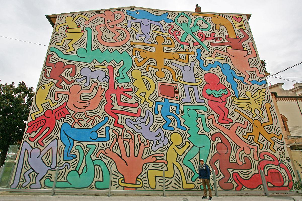 "Keith Haring's Pisa mural ""Tuttomondo"""