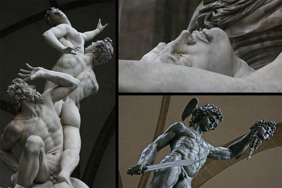 Statues Loggia della Signoria in Florence