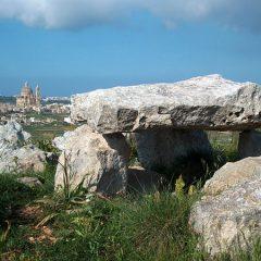 A Lone Dolmen on Gozo