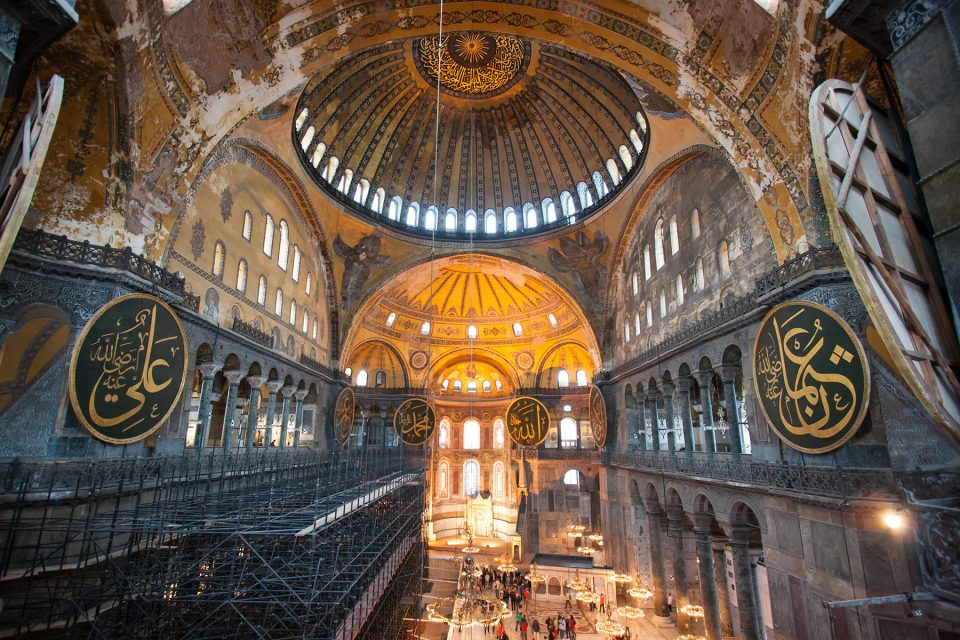 Massive interior of Hagia Sophia