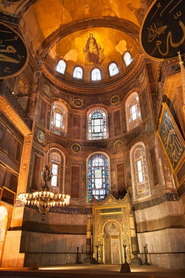 The mihrab of Hagia Sophia