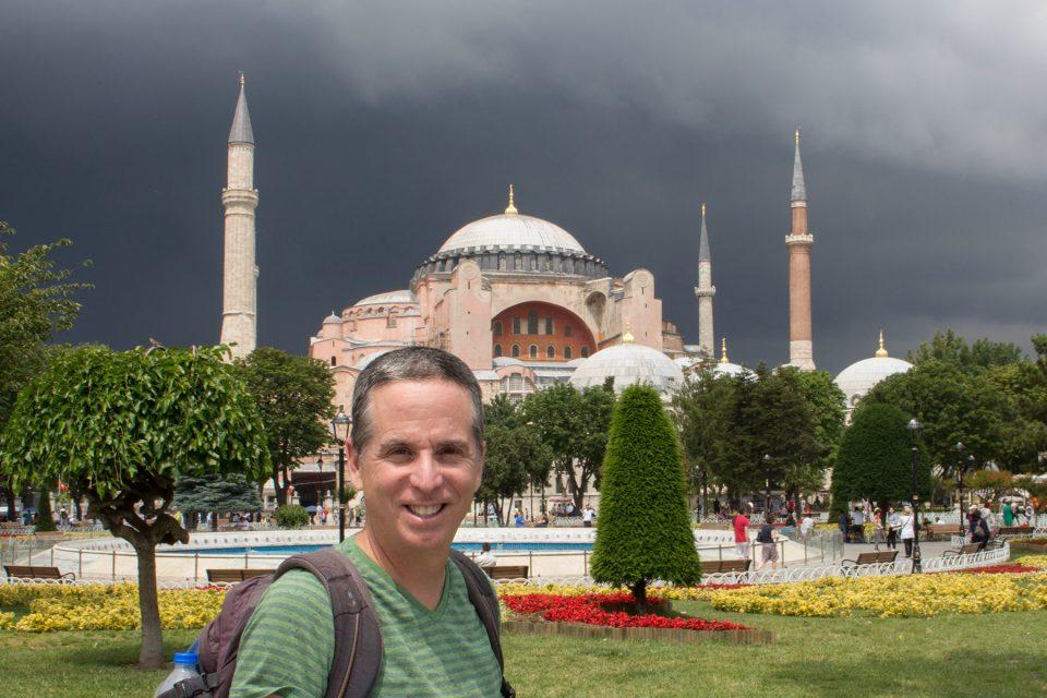 Tony at Hagia Sophia