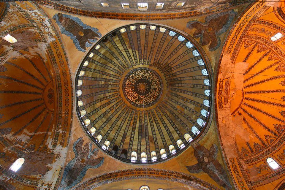 The huge dome of Hagia Sophia