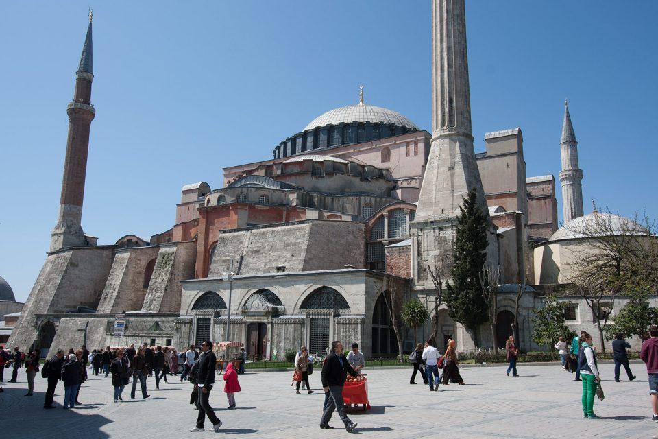 Soaring minarets surrounding the museum