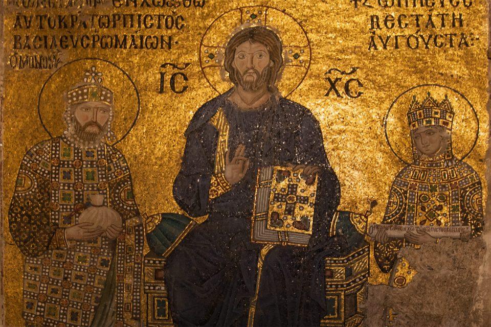 Byzantine mosaics in Hagia Sophia