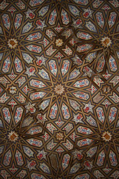 Ornate roof of Seville's Alcázar