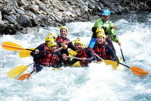 Rafting on Noguera Pallaresa