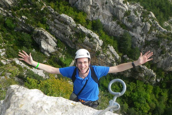 Tony doing Vallcebre via ferrata