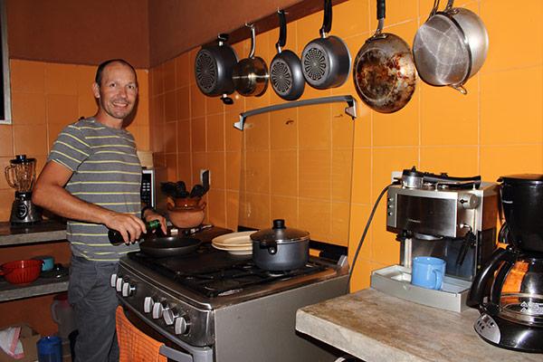 Thomas in the kitchen
