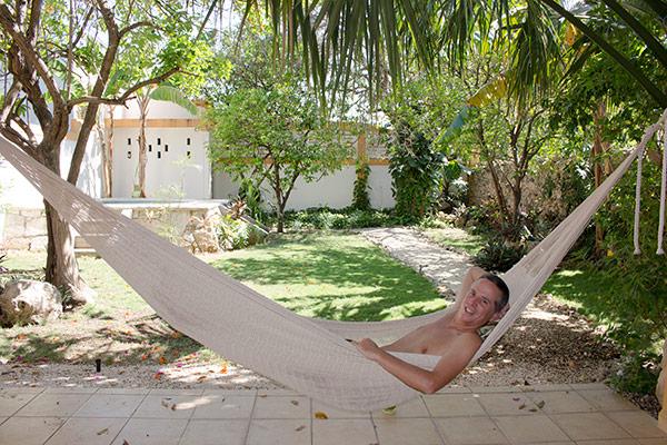 Tony in the hammock