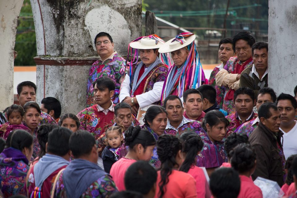 Crowds gather on market day in ZInacantan